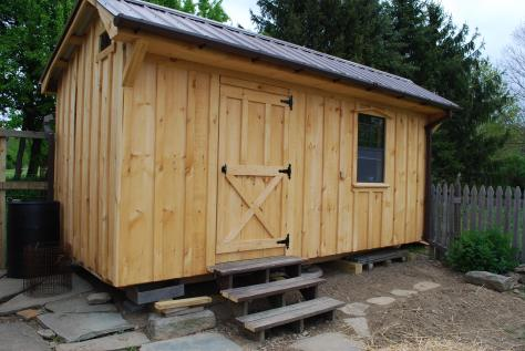 the new garden shed